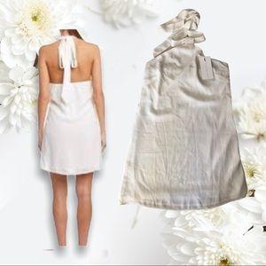 Small White Endless Rose Halter Dress